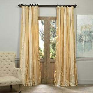 Exclusive Fabrics Vienna Faux Silk Taffeta Stripe Curtain Panel