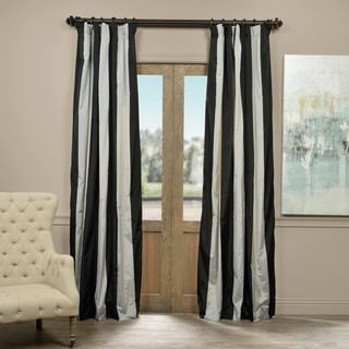 Exclusive Fabrics Berlin Faux Silk Taffeta Stripe Curtain