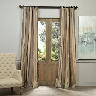 Exclusive Fabrics Prague Faux Silk Taffeta Stripe Curtain Panel