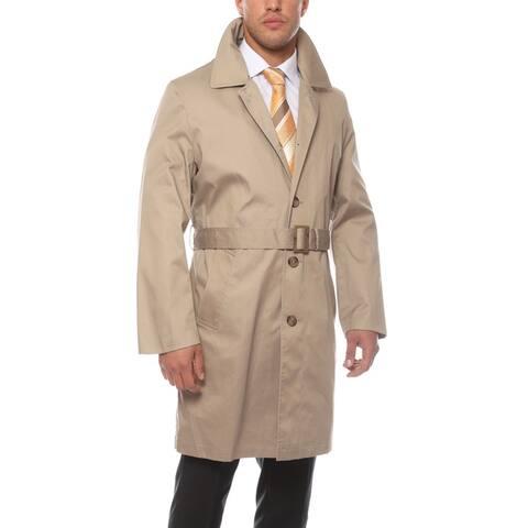 Ferrecci Men's British Classic Fit Rain Resistant Urban Trench Coat