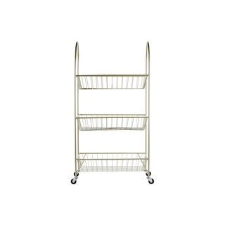 Urban Trends Champagne Metal Cart