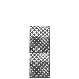 Metal Rectangular Wall Mail Organizer with 2 Tiers and Peforated Parabolic Diamond Pattern Coated Finish Gray
