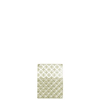Metal Rectangular Wall Mail Organizer with 1 Tier and Peforated Parabolic Diamond Pattern Coated Finish Champagne