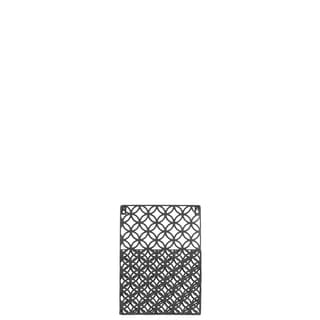 Metal Rectangular Wall Mail Organizer with 1 Tier and Peforated Parabolic Diamond Pattern Coated Finish Gray