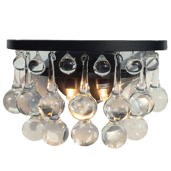 glass drop light fixture droplight edison celeste glass drop wall sconce black finish shop free shipping