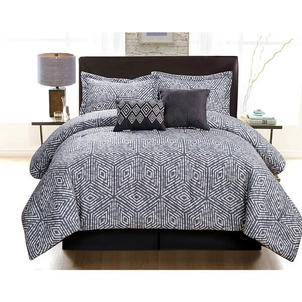 Ella 6-Piece White and Black Comforter Set