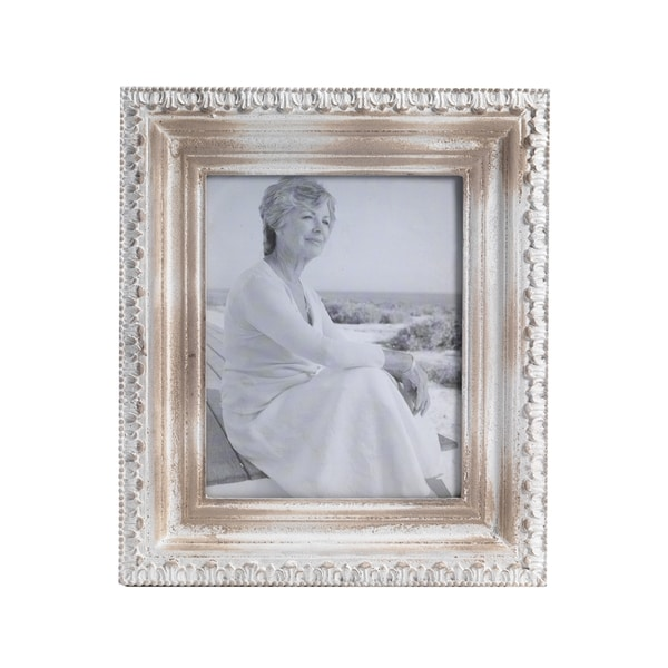 8974ec7f6341 Shop Bombay Distressed Beige Wood Frame (8x10) - Free Shipping On ...