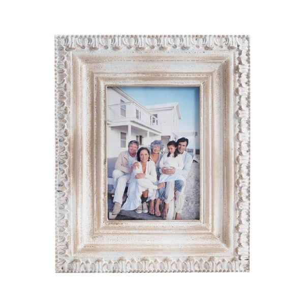 c0cfb1aa86e2 Shop Bombay Distressed Beige Wood Frame (5x7) - Free Shipping On Orders Over   45 - Overstock - 11003628