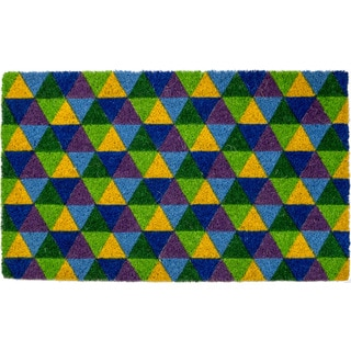 Triangles Non Slip Coir Doormat