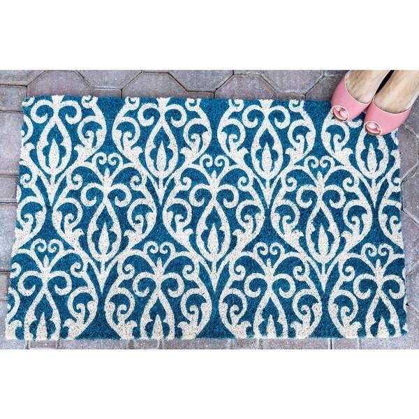 Bristol Scroll Handwoven Coconut Fiber Doormat. Opens flyout.