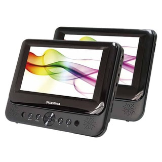 Sylvania Sdvd8739 7-inch Premium Dual Screen Portable Dvd Player (Refurbished)