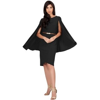 Koh Koh Women's Cape Sleeve Round Neck Dress