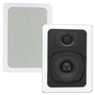 Theater Solutions TS50W In Wall 5.25-inch Surround Sound Home Theater Rectangular Kevlar Speaker Pair