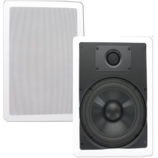 Theater Solutions CS8W In Wall 8-inch Speakers Surround Home Theater Contractor Pair