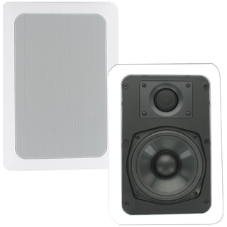 Theater Solutions CS5W In Wall Speakers Surround Home Theater Contractor Pair