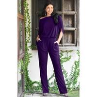 c5ca2303501 Shop Lauren Ralph Lauren Womens Gustana Jumpsuit Blouson Surplic ...