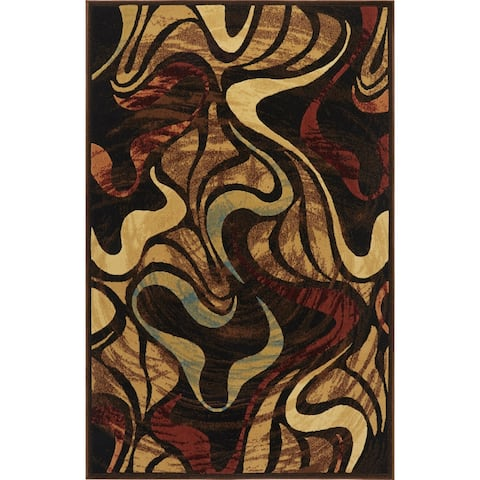 Home Dynamix Catalina Collection Black Machine Made Polypropylene Area Rug - 7'10 X 10'2