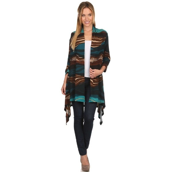 High Secret Women's Abstract Print Cardigan