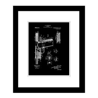 Prestige Art Studios 1910 Browning Pistol Framed Print