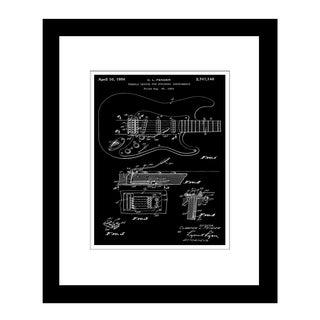 Prestige Art Studios Fender Stratocaster Tremolo Patent Framed Print