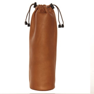 Piel Leather Drawstring Single Wine Tote (3 options available)