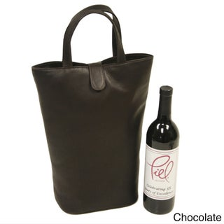 Piel Leather Double Wine Tote (3 options available)
