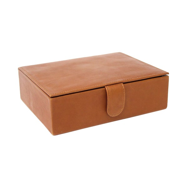 Piel Leather Large Jewelry Keepsake Box