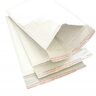 Size no. 1 Self-seal White Kraft Bubble Mailers 7.25 x 12 Padded Envelopes (Pack of 100)