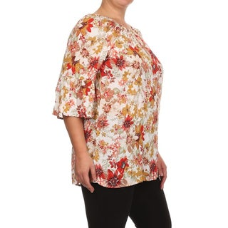 MOA Collection Women's Plus Size Floral Print Top