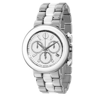 Movado Women's 0606758 Cerena Stainless Steel and Ceramic Watch
