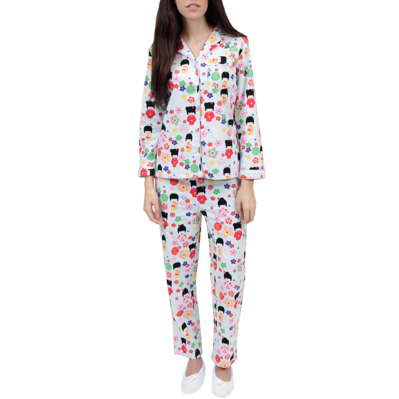 d4ddf8497f Details about La Cera Women s Cotton Flannel Pajama