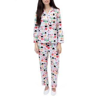 La Cera Women's Cotton Flannel Pajama