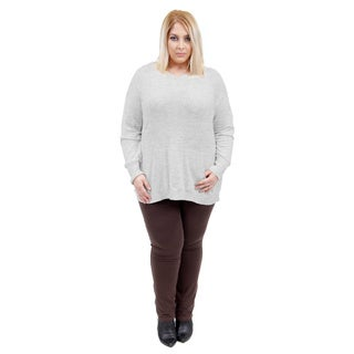 La Cera Women's Plus Size Hooded Pullover