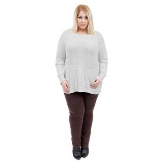 La Cera Women's Plus Size Hooded Pullover