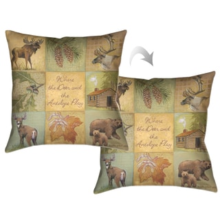 Laural Home Home on the Range Decorative Throw Pillow 18x18