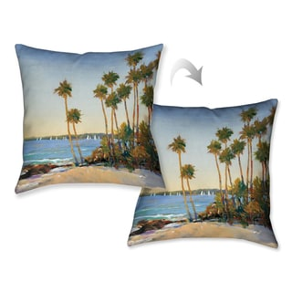 Laural Home Tropical Shore Decorative Throw Pillow 18x18