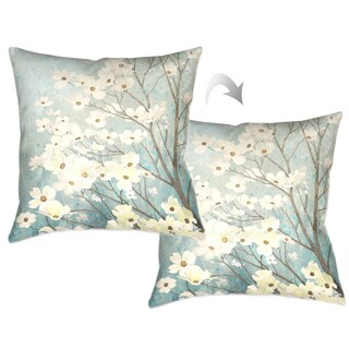 Laural Home Flowering Dogwood Blossoms Decorative Throw Pillow 18x18