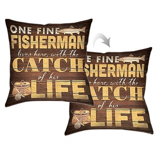 Laural Home Fisherman Decorative Throw Pillow 18x18