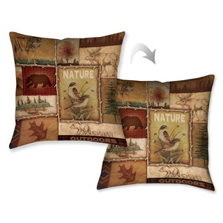Laural Home Nature Lodge Collage II Decorative Throw Pillow 18x18