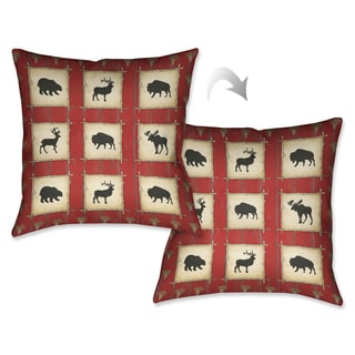 Laural Home Rustic Red Lodge Decorative Pillow