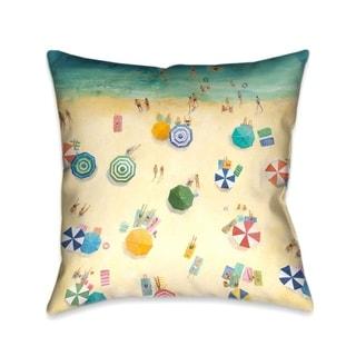 Laural Home Summer Beach Fun Decorative Throw Pillow 18x18