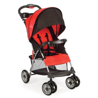 Kolcraft Cloud Plus Fire Red Lightweight Stroller with 5-point safety system and Recling Seat