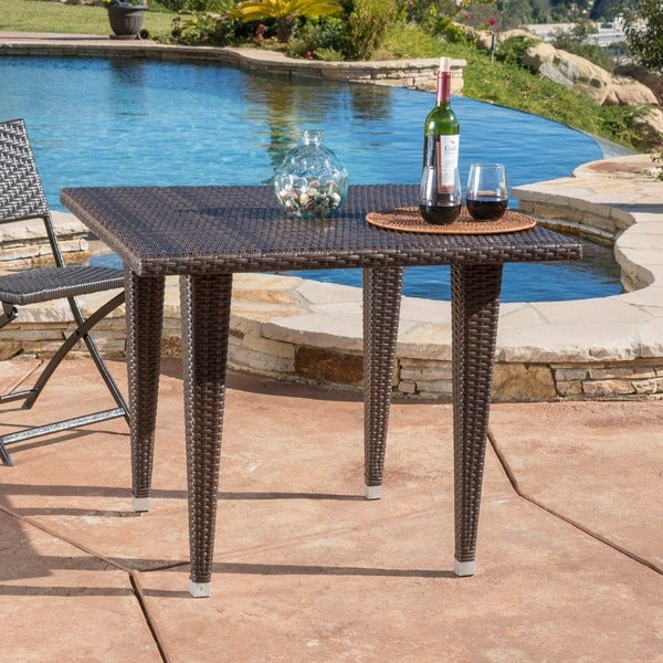 Outdoor Patio Table Sale: Shop Dominica Outdoor Square Wicker Dining Table (ONLY) By