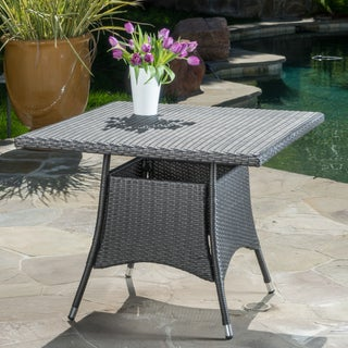 Corsica Outdoor Wicker Square Dining Table (ONLY) by Christopher Knight Home (2 options available)