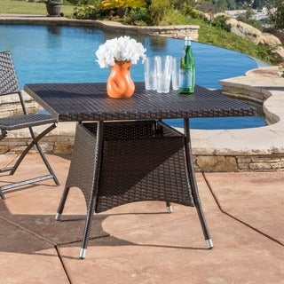 Corsica Outdoor Wicker Square Dining Table (ONLY) By Christopher Knight Home