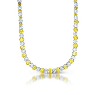 Collette Z Sterling Silver Yellow & Clear Cubic Zirconia Necklace