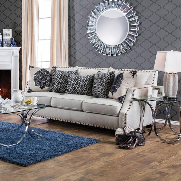 Overstock Furniture: Shop Furniture Of America Rita Contemporary Nailhead