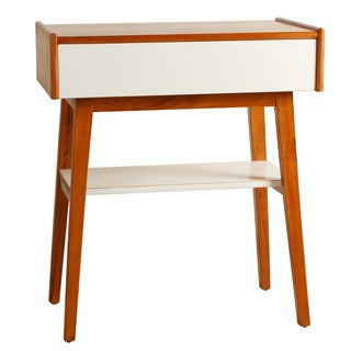 Porthos Home Penelope Single Drawer Walnut End Table