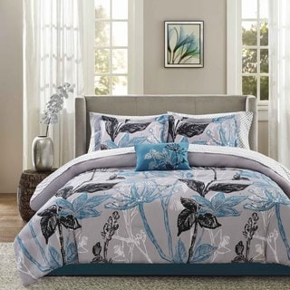 Madison Park Essential Ashby Aqua Complete Comforter and Cotton Sheet Set