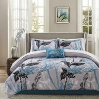 Madison Park Essential Ashby Aqua Complete Comforter and Cotton Sheet Set